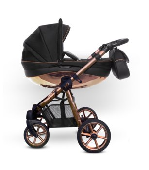 BabyActive, Mommy Glossy, Wózek wielofunkcyjny, Black Rose, Gold, 2w1-BabyActive