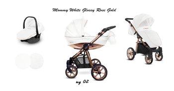 BabyActive, Mommy Glossy, Wózek wielofunkcyjny, White Rose/Gold, 3w1-BabyActive