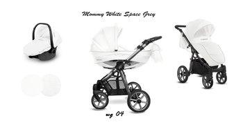 BabyActive, Mommy Glossy, Wózek wielofunkcyjny, White Space/Grey, 3w1-BabyActive