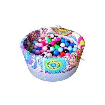 BabyBall, suchy basen okrągły, 90x40 cm z kulkami 300 szt  Kalejdoskop-BabyBall