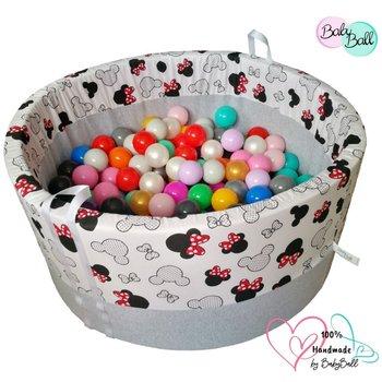 BabyBall, suchy basen z piłeczkami 200 szt - Myszka Minie-BabyBall