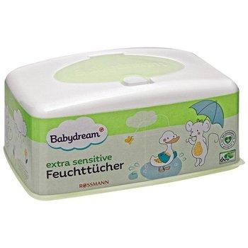 Babydream, Chusteczki nawilżane z aloesem + pudełeczko-Babydream