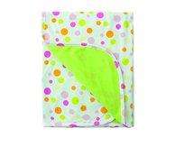 BabyMatex, Ines, Kocyk dwustronny 75x100 cm, bawełna, Biały/Zielony