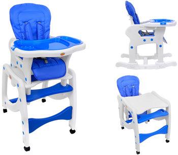 BabyMaxi, Krzesełko do karmienia i stolik, Niebieskie, 5w1-BabyMaxi
