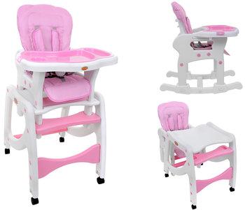 BabyMaxi, Krzesełko do karmienia i stolik, Różowe, 5w1-BabyMaxi