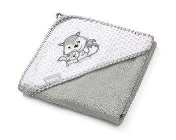 BabyOno, Okrycie kąpielowe, Ręcznik z kapturkiem, Bambusowy, 76x76 cm-BabyOno