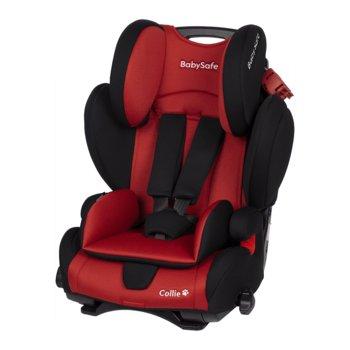 BabySafe, Collie, Fotelik samochodowy, 9-36 kg, Red Black-BabySafe