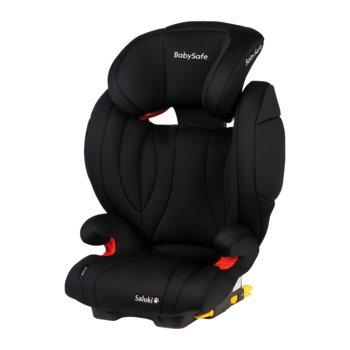 BabySafe, Saluki, Fotelik samochodowy, 15-36 kg, Black-BabySafe