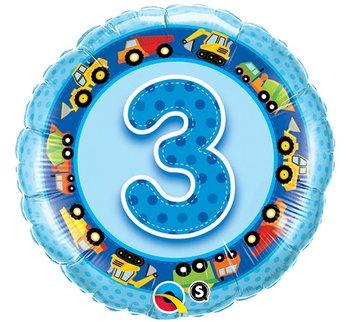 a585c0b54cc528 Balon foliowy, 3 urodziny, 18