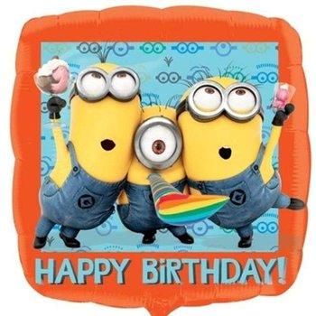 "Balon foliowy, Minionki, Happy Birthday, 18""-Amscan"
