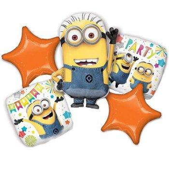 Balon foliowy, Minionki Party, 5 sztuk-Amscan
