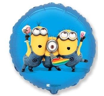 """Balon foliowy, Minions Party , 18"""", niebieski-Flexmetal"""