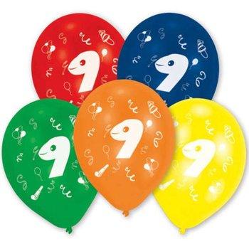"""Balony, 9 Urodziny, 10"""", mix, 10 sztuk-Amscan"""