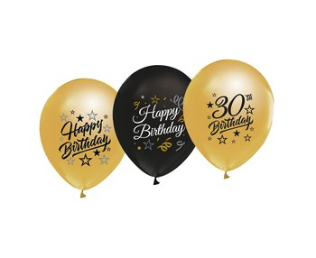"Balony na 30 urodziny, 12"", 5 sztuk"