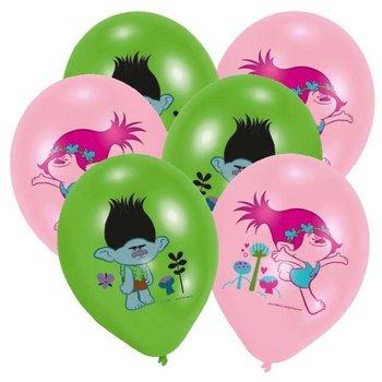 """Balony, Trolls, pastel mix, 11"""", 6 sztuk-Amscan"""