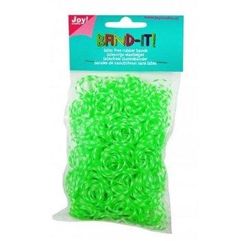 BAND IT gumki 600 szt. - zielony-biały snow-Joy! Crafts