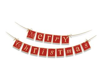 Baner Merry Christmas PARTY DECO, czerwony, 14,5x220 cm - PartyDeco