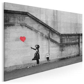 Banksy - Dziewczynka - nowoczesny obraz na płótnie - 120x80 cm-VAKU-DSGN Nowoczesne obrazy
