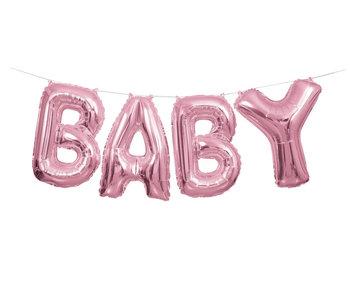 Banner z balonów, Baby, różowy