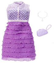 Barbie Fashionistas, Modne kreacje, Sukienka fioletowo-biała