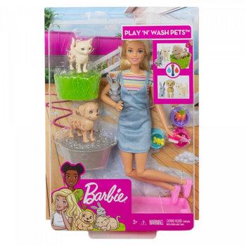 Barbie, lalka Kąpiel zwierzątek