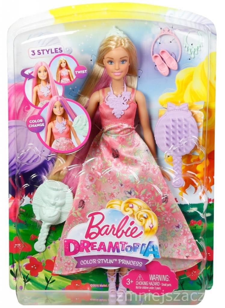Barbie Lalka Księżniczka Kolorowe Fryzury Barbie Sklep