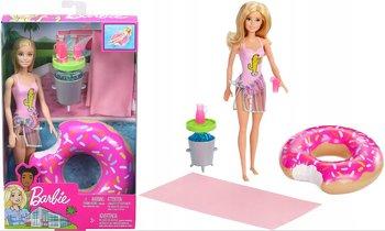 Barbie, lalka z akcesoriami basenowymi, GHT20-Barbie