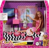 Barbie, zestaw lalka i sypialnia, CFB60
