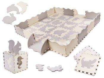 Bard, Puzzle piankowe mata/Kojec dla dzieci, Szary-Ecru, 36 szt.-Bard