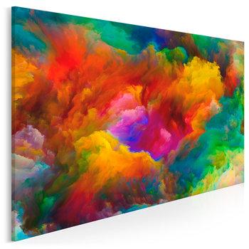 Barwna salwa - nowoczesny obraz na płótnie - 120x80 cm-VAKU-DSGN Nowoczesne obrazy