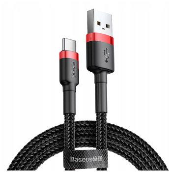 Baseus kabel USB Typ-C QUICK CHARGE 3.0 - Czarno-Czerwony-EtuiStudio