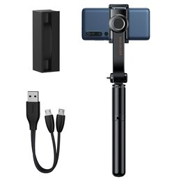 Baseus selfie stick teleskopowy rozsuwany kijek do selfie statyw z pilotem Bluetooth czarny (SULH-01) - Czarny