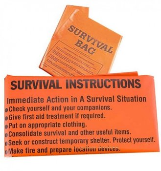 BCB, Worek survivalowy, Printed Survival Bag CL044 (9797), pomarańczowy-BCB