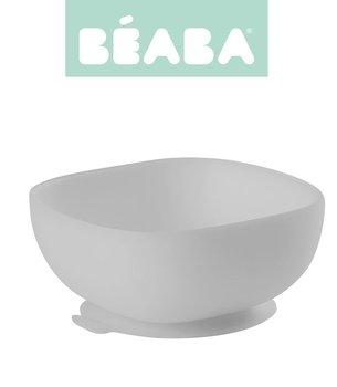 Beaba, Miseczka silikonowa z przyssawką, Szary-Beaba