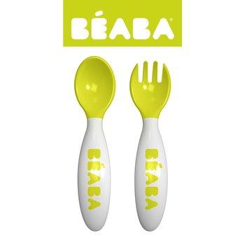 Beaba, Sztućce plastikowe w etui, Neon-Beaba