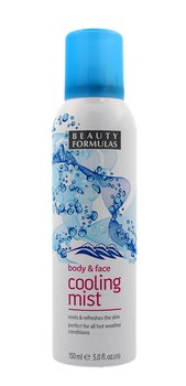 Beauty Formulas, Face and Body, chłodząca mgiełka do twarzy i ciała, 150 ml-Beauty Formulas