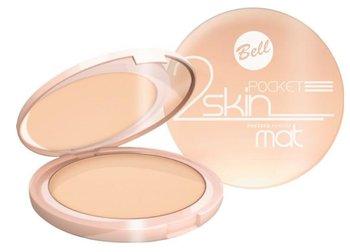 Bell, 2 Skin Pocket Pressed Powder, prasowany puder matujący 043 beige, 9 g-Bell