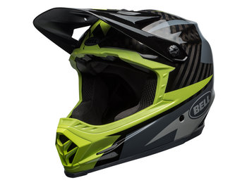 Bell, Kask full face, Full - 9 carbon, czarno-zielony, rozmiar L-Bell