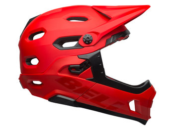 Bell, Kask full face, Super DH MIPS Spherical, czerwono-czarny mat, rozmiar S-Bell