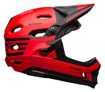 Bell, Kask full face, Super DH MIPS Spherical, czerwono-czarny, rozmiar M-Bell
