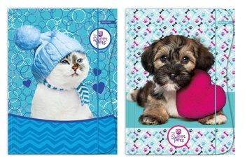 Beniamin, teczka z gumką, format A4, The Sweet Pets, 5 sztuk, mix wzorów