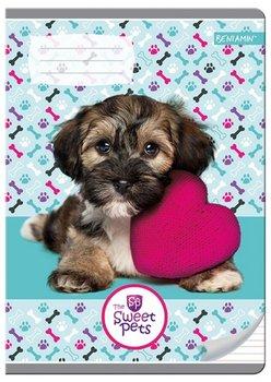 Beniamin, zeszyt w trzy linie, format A5, The Sweet Pets, 16 kartek, 10 sztuk