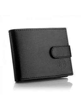 Betlewski, portfel męski mały BPM-DZ-63, skórzany, czarny-Betlewski