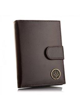 Betlewski, portfel męski z zapinką i RFID, skórzany, brązowy-Betlewski