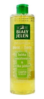 Biały Jeleń, Owoc i Zioło, szampon do włosów Babka Lancetowata & Dzika Jabłoń, 400 ml-Biały Jeleń
