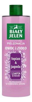 Biały Jeleń, Owoc i Zioło, szampon do włosów Łopian i Jagoda, 400 ml-Biały Jeleń