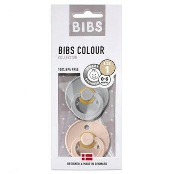 Bibs, Smoczek uspokajający, kauczukowy, Havea, Blush/Cloud, rozmiar S, 2 szt.-Bibs