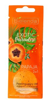 Bielenda, Exotic Paradise, regenerujący żel peelingujący do ciała 2w1 Papaja, 25 g-Bielenda