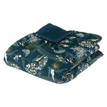 Bieżnik na łóżko PEACOCK, wzór pawich piór, 80 x 180 cm-Atmosphera