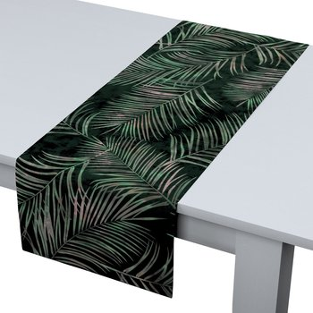 Bieżnik prostokątny DEKORIA Velvet, czarno-zielony, 40x130 cm-Dekoria